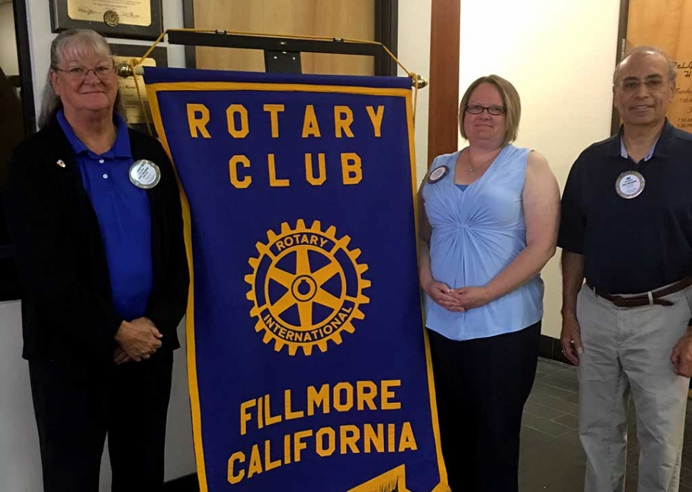 Fillmore Rotary Recognizes Members: Fillmore Rotary's Heritage Valley 5/10K Run Fundraiser was a huge success this year. The Run was hosted during the Fillmore May Festival on May, 20th. The turnout for this year's run was great, thanks to the hard work of Rotary members Cindy Blatt, Alicia Hicks, and Joe Aguirre. Photo Courtesy of Martha Richardson.