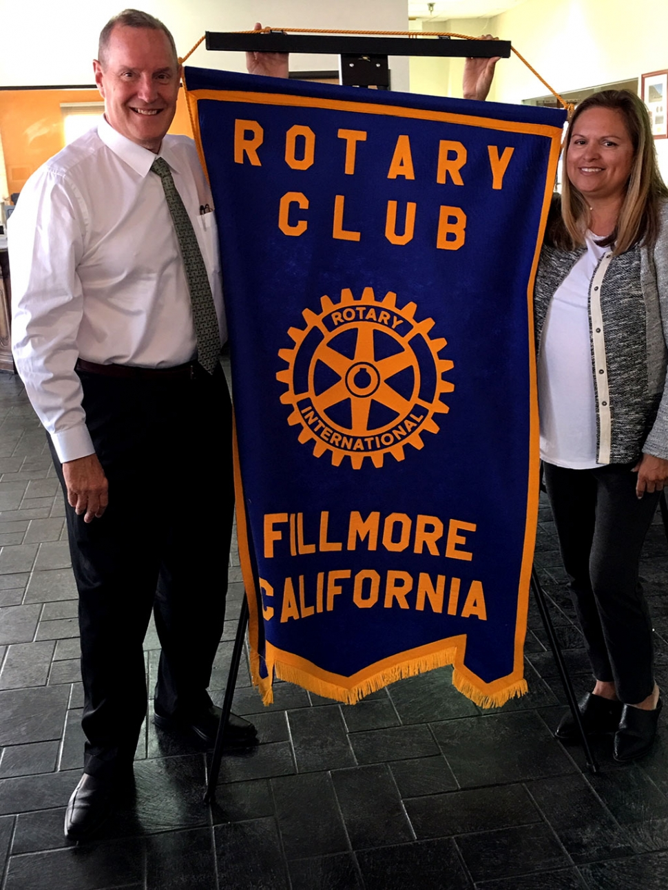 Pictured is Rotary President Ari Larson with Rotarian Kyle Wilson who presented to the Club. Kyle joined Rotary in 2005, has been President twice, International Chair many times, and is now Foundation Chair. He has received many awards for his Rotary service over the years. His program was on the Rotary Foundation. This Foundation is a fundraiser that disperses Rotary monies for projects around the world. Polio Eradication has been a major one starting in the 80's. Teams of Rotarians have gone to countries around the world to administer the vaccine to children. Today there are only 2-3 countries with polio. Here in Fillmore our Josh the Otter water safety project received money from the Foundation. Our Club/members donate to the Permanent Fund and to PolioPlus, and a percentage of this money comes back to the Club every three years for our projects. This is one of the ways we can support our community, schools, and people of other countries. Photo Courtesy Martha Richardson.
