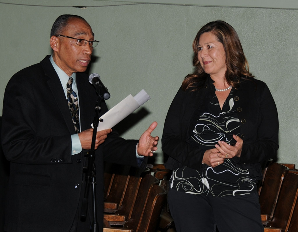 Administrator of the Year was awarded to Sierra High School Principal Cynthia Frutos