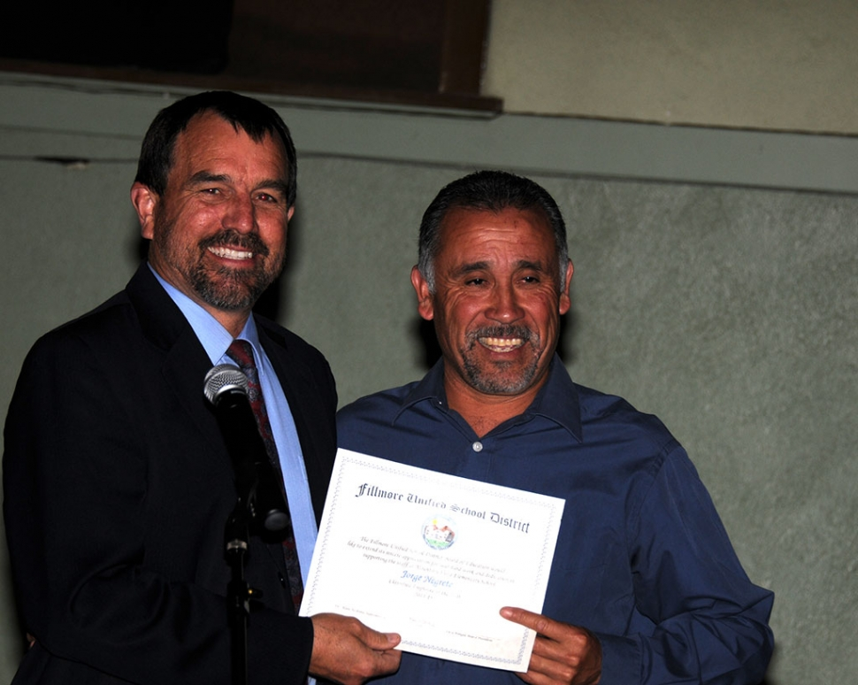 George Negrete was honored as Classified Employee of the Year.