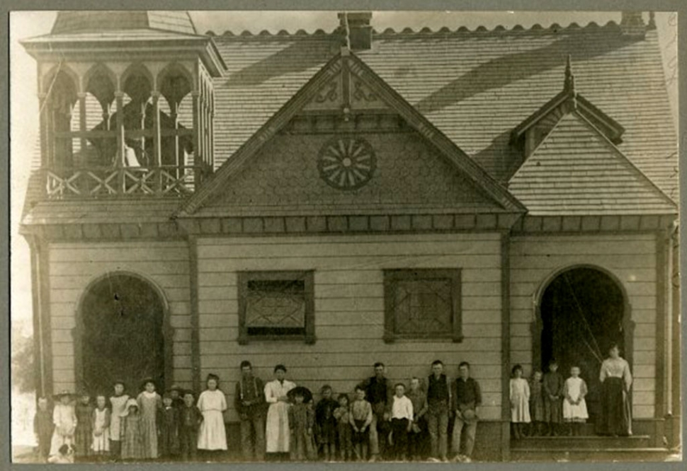Sespe School, which was located on Grand Avenue back in 1890. Photos Courtesy Fillmore Historical Museum.