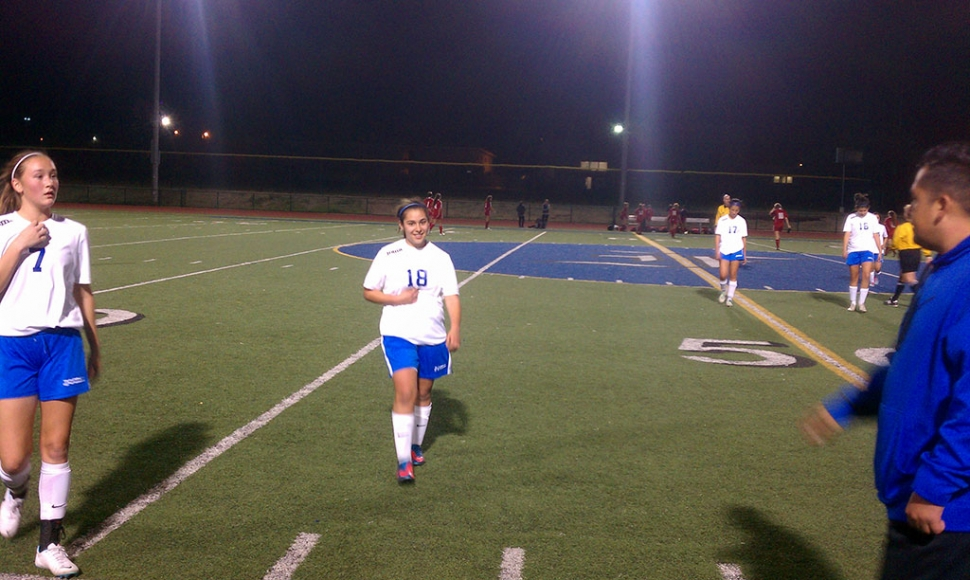 Fillmore High School Girls Soccer had their first league game against Bishop Diego, held on January 14, 2014. Fillmore won 3-0. Recap: Two goals by Reylene Martinez #4; Nayely Baez had two assists; Liz #18 had 1 goal; Esmeralda Murillo, Bri Santa Rosa, Maria Suarez, and Caroline Esquivel, Nesa Estrada played well defensively. Patty Vasquez had 4 saves.