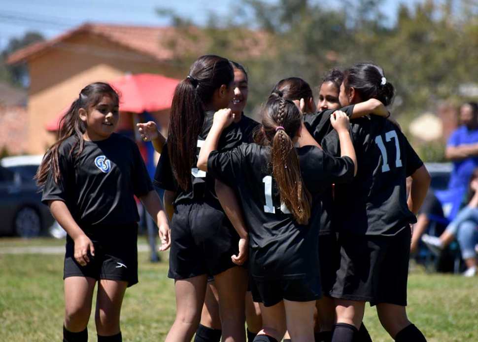 California United Girl's 11U team celebrates the big semifinal win. The girl's are scheduled play for the Championship next week. Photos by Martin Hernandez.