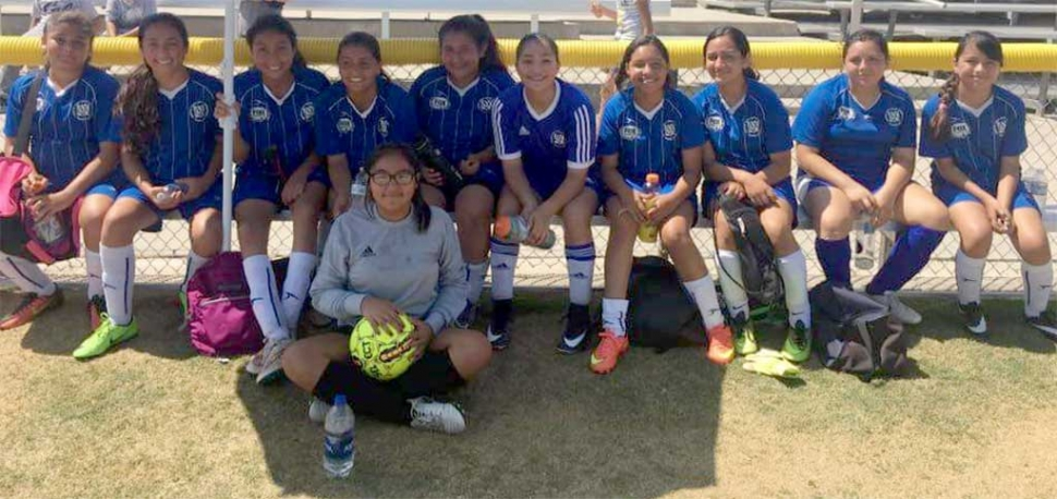 California United U-13 Girls feeling good about their 4-0 win over Oxnard Waves.