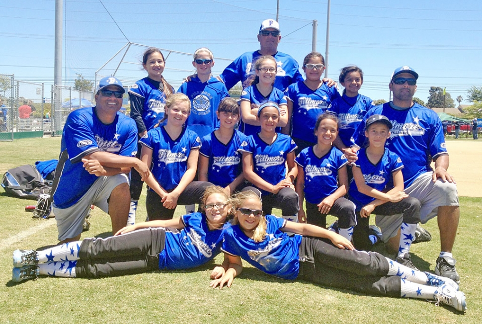 (l-r top row) Aliyah Golson, Alexis Johnston, Assistant Coach Jeff Fontes, April Lizarraga, Isabella Ayala, Julissa Montes. (middle row) Manager Mario Robledo, Addison Weeks, Jessie Fontes, Heaven Aparicio, Lexi Garza, Nevaeh Walla, Head Coach Louie Garza. (bottom row) Alyssa Ibarra and Olivia Robledo. (not pictured) Assistant Coach Ryan Weeks.