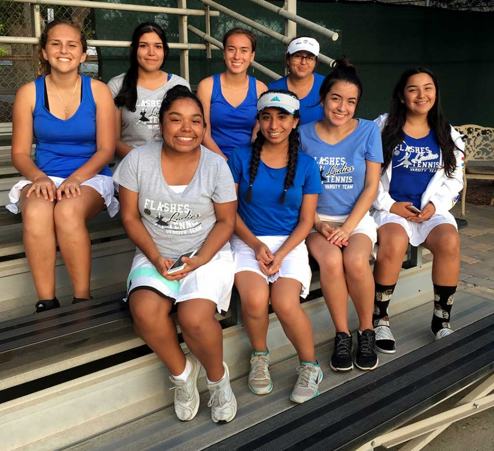 Fillmore High School Girls Tennis Team. Photo Courtesy Coach Bowman.