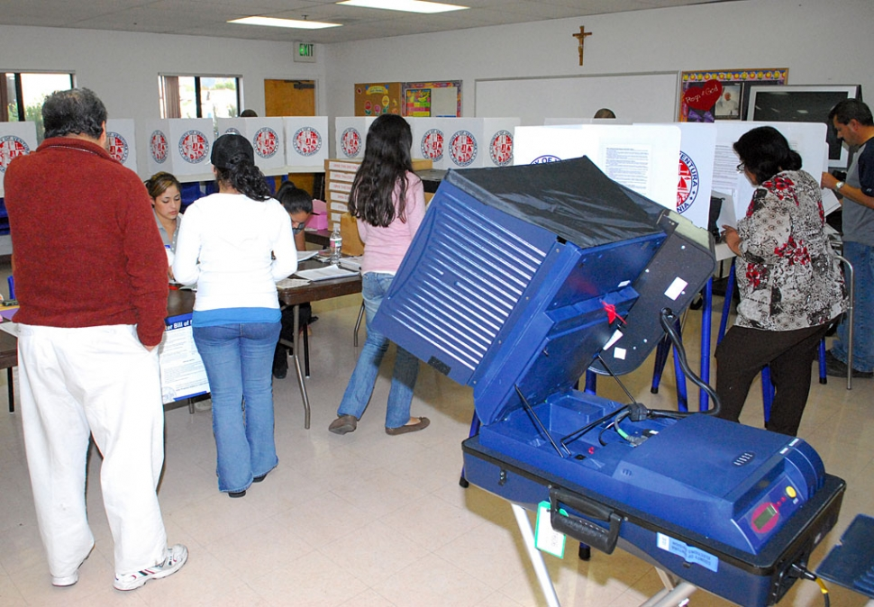 Voters did their duty by voting on November 4th, at St. Francis of Assisi church.