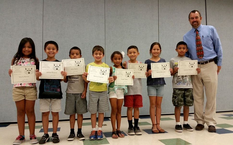 2nd and 3rd grade writers of the month