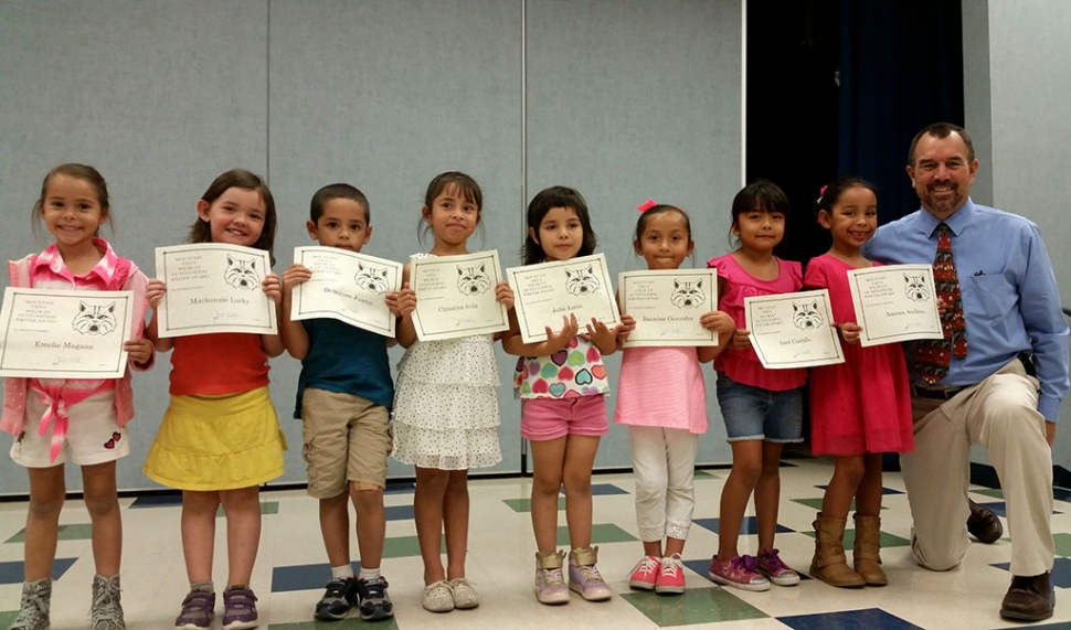 Kindergarten and 1st grade writers of the month