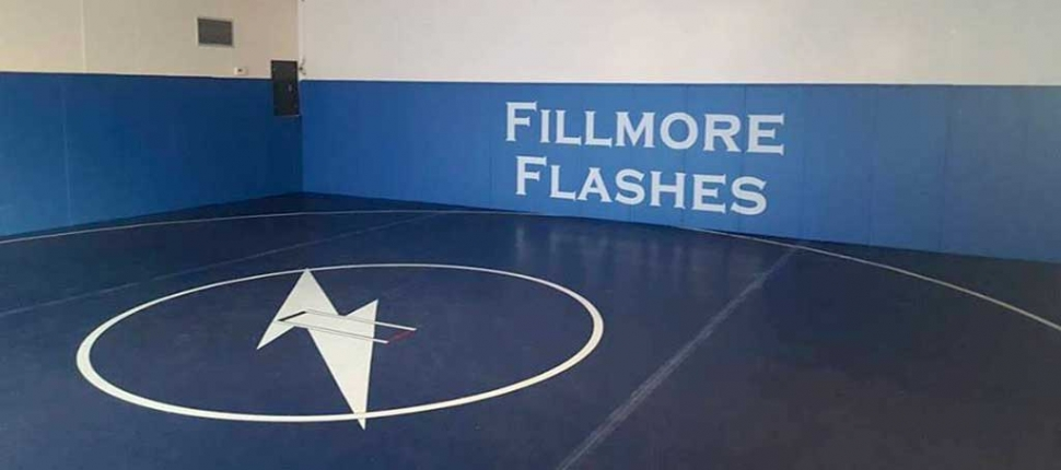 Fillmore High School wrestling room has made some upgrades which seem to be coming along nicely.